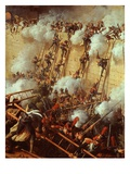 Soldiers Scaling Walls, from Attack on and Capture of Ratisbon, France, by Marshal Lannes Giclee Print by Charles Thevenin