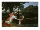 Thetis Immerses Son Achilles in Water of River Styx, 18th Century Giclee Print by Antoine Borel