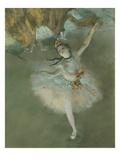L'Etoile Ou Danseuse Sur Scene, the Star or Dancer on Stage, Pastel, C. 1876, Detail Impression giclée par Edgar Degas