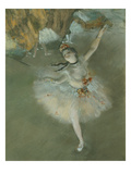 L'Etoile Ou Danseuse Sur Scene, the Star or Dancer on Stage, Pastel, C. 1876, Detail Premium Giclee Print by Edgar Degas
