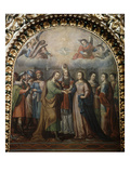The Wedding of Mary and Joseph, 1723, Basilica of Ocotlan, 18th Century Giclee Print by Juan de Villalobos