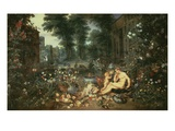 The Sense of Smell 1617-18 65X109Cm Giclee Print by Jan Brueghel the Elder