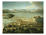 View of Town and Fortifications on Island of Corfu Venetian Until 1797 Now Greek Giclee Print