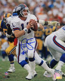 Phil Simms Signed Passing vs Rams Photographie