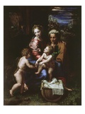Holy Family of the Pearl, C. 1518-20 Reproduction procédé giclée par Raphael