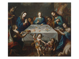 The Blessing of the Meal, Undated Giclee Print by José de Alcibar