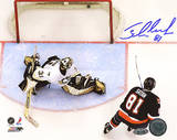 Miroslav Satan Shootout Goal vs Penguins Autographed Photo (Hand Signed Collectable) Photo