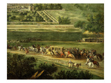 King's Carriage Travelling Towards Chateau, from Le Château Neuf De Saint-Germain Et Les Jardins Giclee Print by Adam Frans van der Meulen
