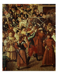 Procession of La Ligue (The League, Anti-Royalist Catholic Group), 4 February 1593 Giclee Print by Francois Bunel the Younger