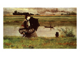 Banks of the River Seine, France Reproduction proc&#233;d&#233; gicl&#233;e par Federigo Zandomeneghi