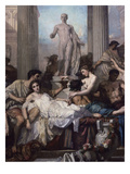 Detail, Les Romains De La Decadence (The Romans of the Decadence), 1847 Giclee Print by Thomas Couture
