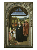 The Adoration of the Angels, C. 1445, Panel from Triptych Depicting Life of the Virgin Giclee Print by Dieric Bouts