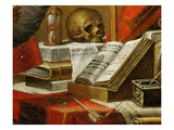 Manuscripts of Saint Jerome, Vulgata, Latin Bible, Detail Giclee Print by Alonso Antonio Villamor (Attr to)