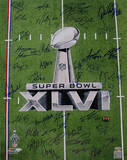 New York Giants Team Signed Super Bowl XLVI 2011 Trophy Champions Photo 2 Photo