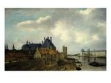 L'Hôtel De Nevers, La Tour De Nesle Et La Grande Galerie Du Louvre, Vus Du Pont-Neuf Giclée-Druck von Abraham de Verwer