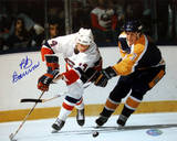 Bob Bourne vs. Kings Autographed Photo (Hand Signed Collectable) Photo
