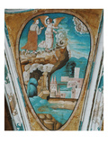 Saint John and the Angel, the Vision of the Churches, Scene from the Apocalypse Giclee Print by Juan Gerson
