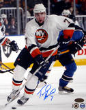 Trent Hunter Islanders Vs. THome Runashers Autographed Photo (Hand Signed Collectable) Fotografía