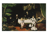 Lunch in the Conservatory, 1877 Premium Giclee Print by Louise Abbema