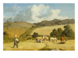 Harvest at Holmstrup, Zeeland, 1845 Giclee Print by Lorens Frolich