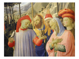 Deposition of Christ 1435 Detail of Crown of Thorns Nails and Mourners Giclee Print by Fra Angelico