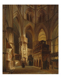 Interior of Westminster Abbey, C. 1855 Giclee Print by Giovanni Brocca