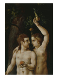 The Original Sin, Adam and Eve, Triptych, 16th Century, Detail Giclee Print by German School