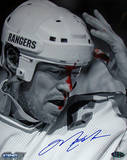Mark Messier B&W Blood Vertical Photo