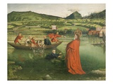 The Miraculous Draft of Fishes, Situated in Geneva Landscape, from Cathedral of St Peter Giclee Print by Konrad Witz