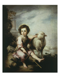 The Good Shepherd, C.1660, 123X101Cm Giclee Print by Bartolome Esteban Murillo