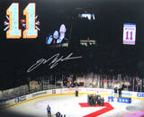 "Mark Messier Retirement Night ""11"" Horizontal Photo"