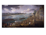 Paris from the Quai De La Rapée, also Called the Quai De Bercy, 1716, Oil on Canvas Giclee Print by Pierre-Denis Martin