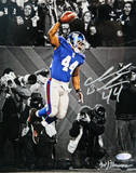 Ahmad Bradshaw TD Celebration Vertical B&amp;W with Color Accents Photo