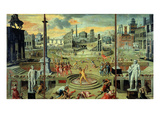 Les Massacres Du Triumvirat (Massacres of the Triumvirate), Painted in 1566 Giclee Print by Antoine Caron