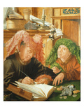 The Tax Collector, the Controller for the Town of Reymerswale and His Financial Guarantor Giclee Print by Marinus Van Reymerswaele