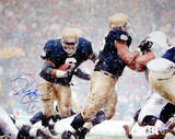Jerome Bettis vs. Penn State in Snow Autographed Photo (Hand Signed Collectable) Photo