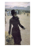Returning from the Bois De Boulogne, Paris, France Giclee Print by Giuseppe De Nittis