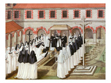 Burial of a Nun at the Benedictine Abbey of Port-Royal Des Champs (Destroyed 1710), Gouache Giclee Print by Magdeleine de Boulogne