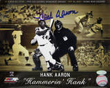 "Hank Aaron ""Hammerin' Hank"" Collage Autographed Photo (Hand Signed Collectable) Photo"