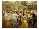 Emperor Franz Joseph, 1830-1916, at Ball in Vienna in 1900 to Salute Start of New Century Giclee Print by Wilhelm Gause
