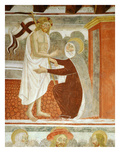 "Christ Appears to Mary after the Resurrection, 15th Century Fresco, ""The Poor Man's Bible"" Giclee Print by Francesco & Sperindio Cagnola"