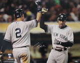 Curtis Granderson with Jeter Horizontal Photo