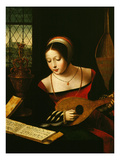 Lute Player Giclee Print by Master of the Half-Length Portraits