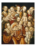 Christ Blessing the Children, 16th Century, by Master Hb of the Griffon's Head Giclee Print by Northern School