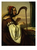 The Harp Player, Detail Giclee Print by Hermann von Hanstein