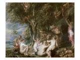 Nymphs and Satyrs Gicl&#233;e-Druck von Sir Peter Paul Rubens