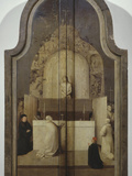 Celebration of Mass of Saint Gregory with Crucified Christ and Instruments of Passion on Altar Photographic Print by Hieronymus Bosch