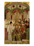 Consecration of a Bishop Late 15th Century Giclee Print by Valencian School