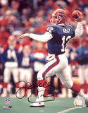 Jim Kelly Signed Throwing Photo
