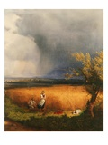 Landscape with Harvest Giclee Print by Andras Marko